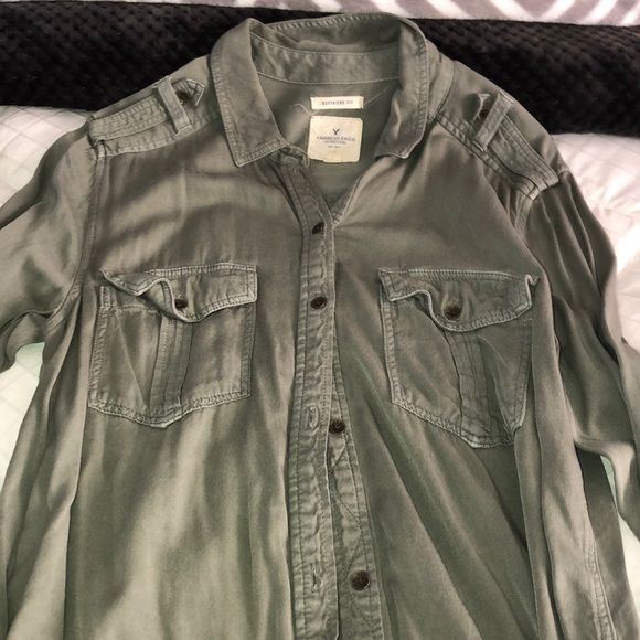 American Eagle Outfitters Tops - Army green button down
